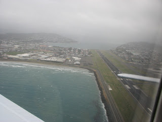 Airborne off runway 16 at Wellington