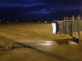 Night time Airbridge