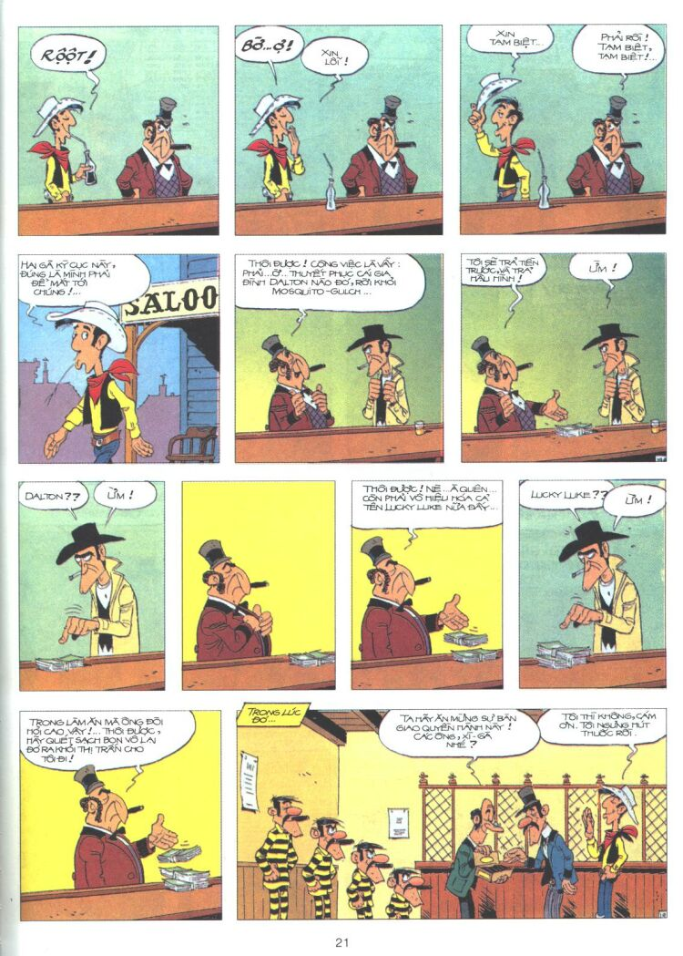 Lucky Luke tập 61 trang 19