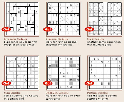 Sudoku variations