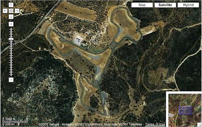 Vista Satelite Circuito de Formula 1 Ascari, en Los Merinos, Ronda