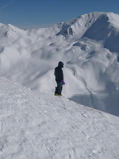 Bergführer mit Hintergrund