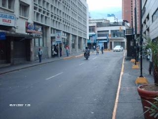Calle El Recreo hacia el Boulevard