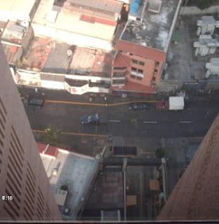 Calle El Recreo vista aerea