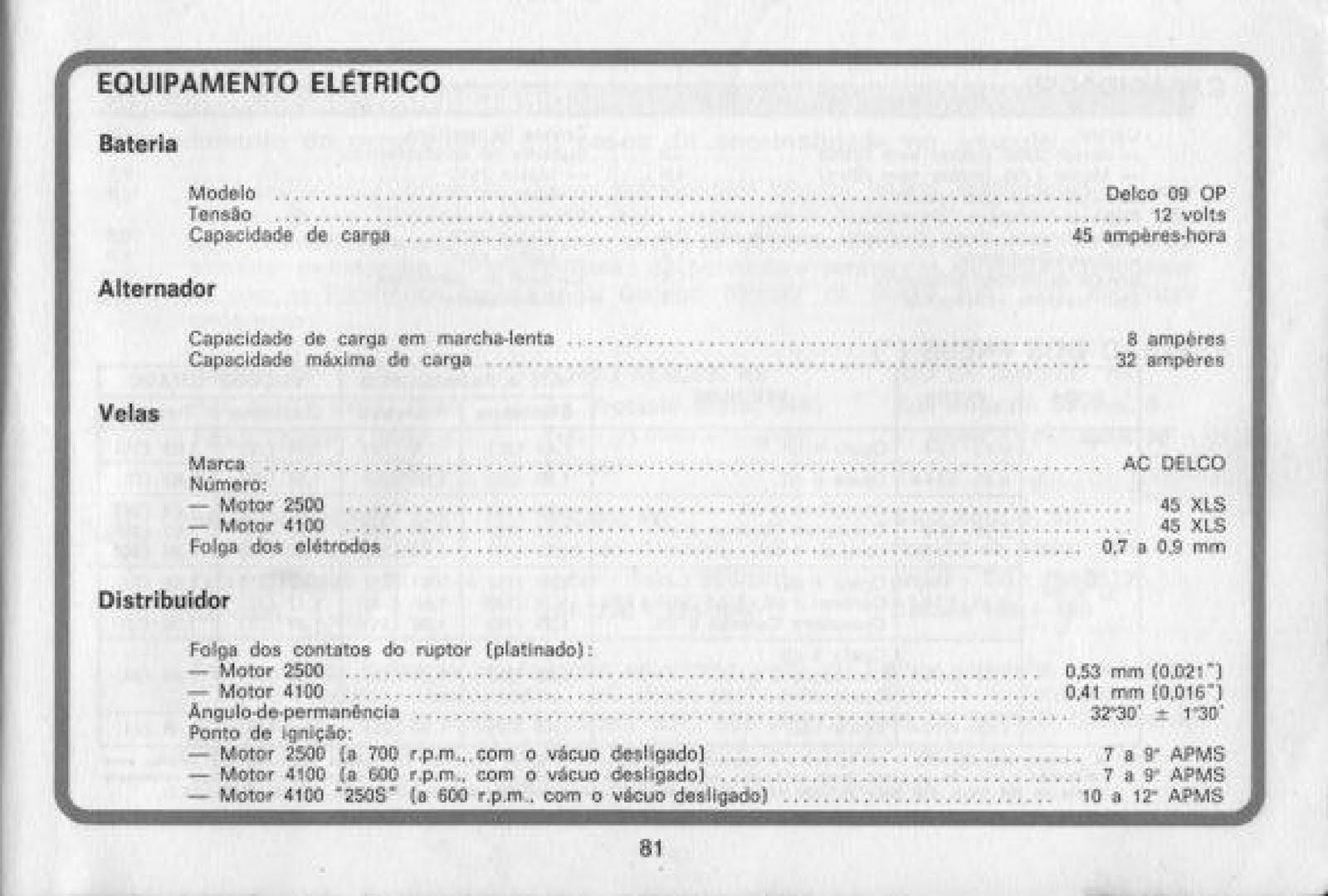 MANUAIS DO PROPRIETÁRIO: GM Opala 1978