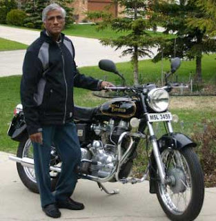 Winnipeg man and his Royal Enfield