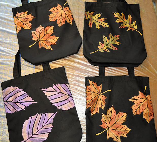 Painting On Fabric Bags
