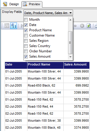 Tips and Tricks for SQL-BI: Displaying Dynamic Columns in SSRS Report