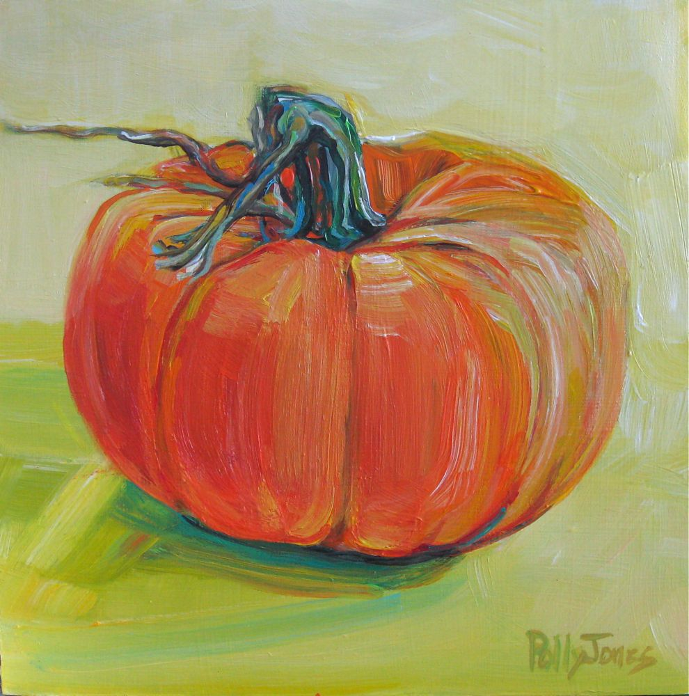 Small Wonders Daily Paintings By Polly Jones: Pumpkin