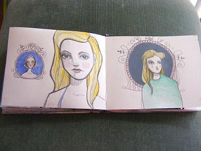 Fancy Sketchbook Ladies A Giveaway