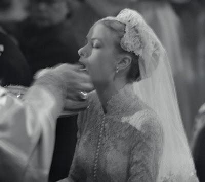 Princess Grace receives communion