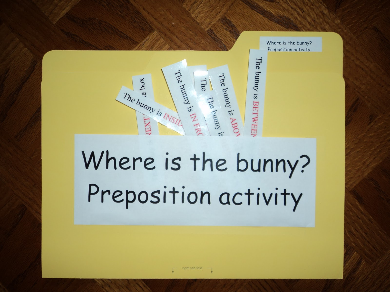 Free Flashcards Prepositions Of Directions