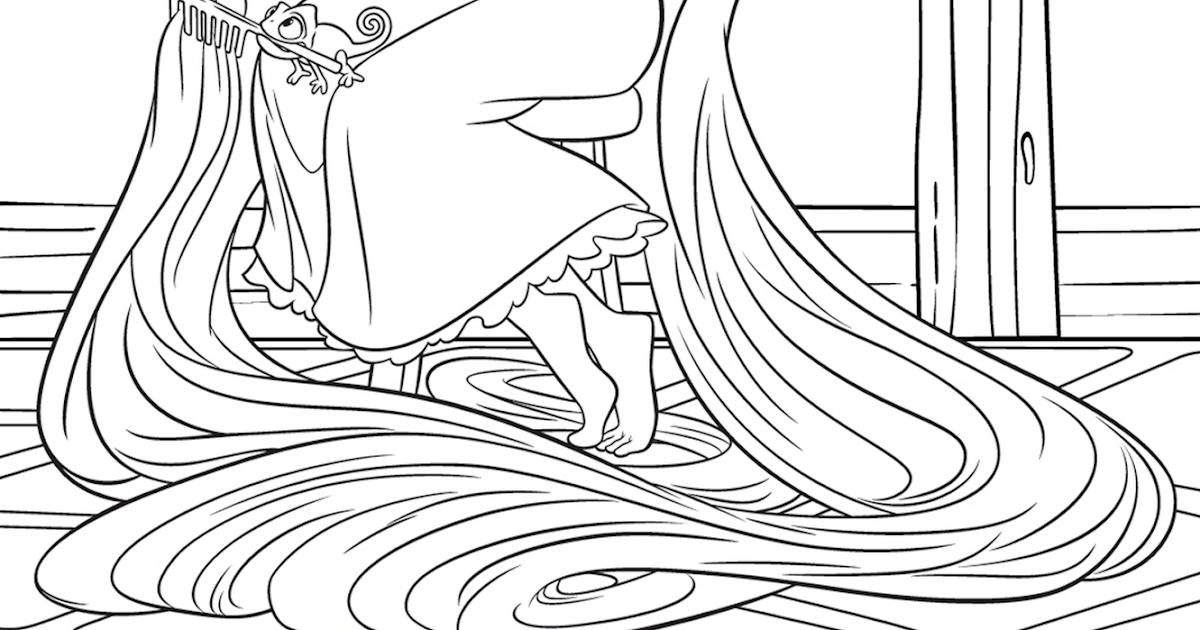 Dibujo Para Colorear De Rapunzel Enredados Dibujos Disney
