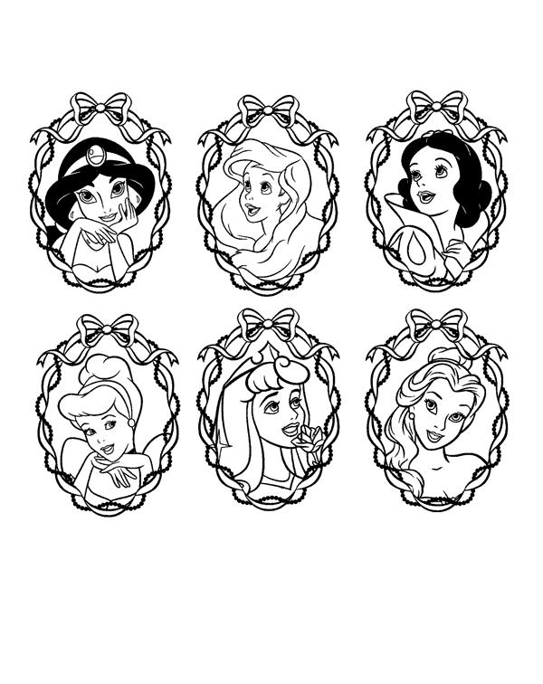 Princesas disney dibujos para colorear de las princesas - Dibujos para pintar en la pared ...