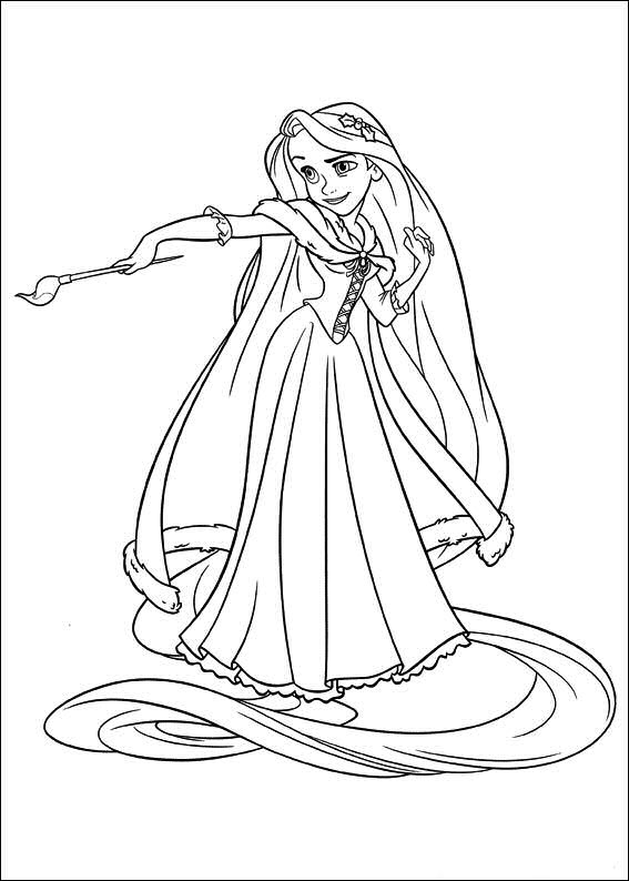Princesas disney dibujos para colorear de rapunzel for Disney princess rapunzel coloring pages
