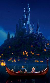 Resultado de imagen de escena de las luces de enredados