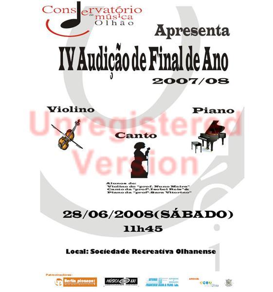 Audição conservatório Música Olhão, clik na imagem