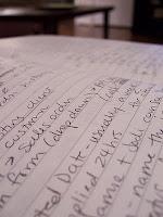 Handwriting. Pic: xetark