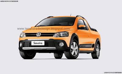 Volkswagen Saveiro Cross G6 Frente Laranja Atacama