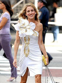 Carrie Bradshaw Sex and the City Movie Dress Flower