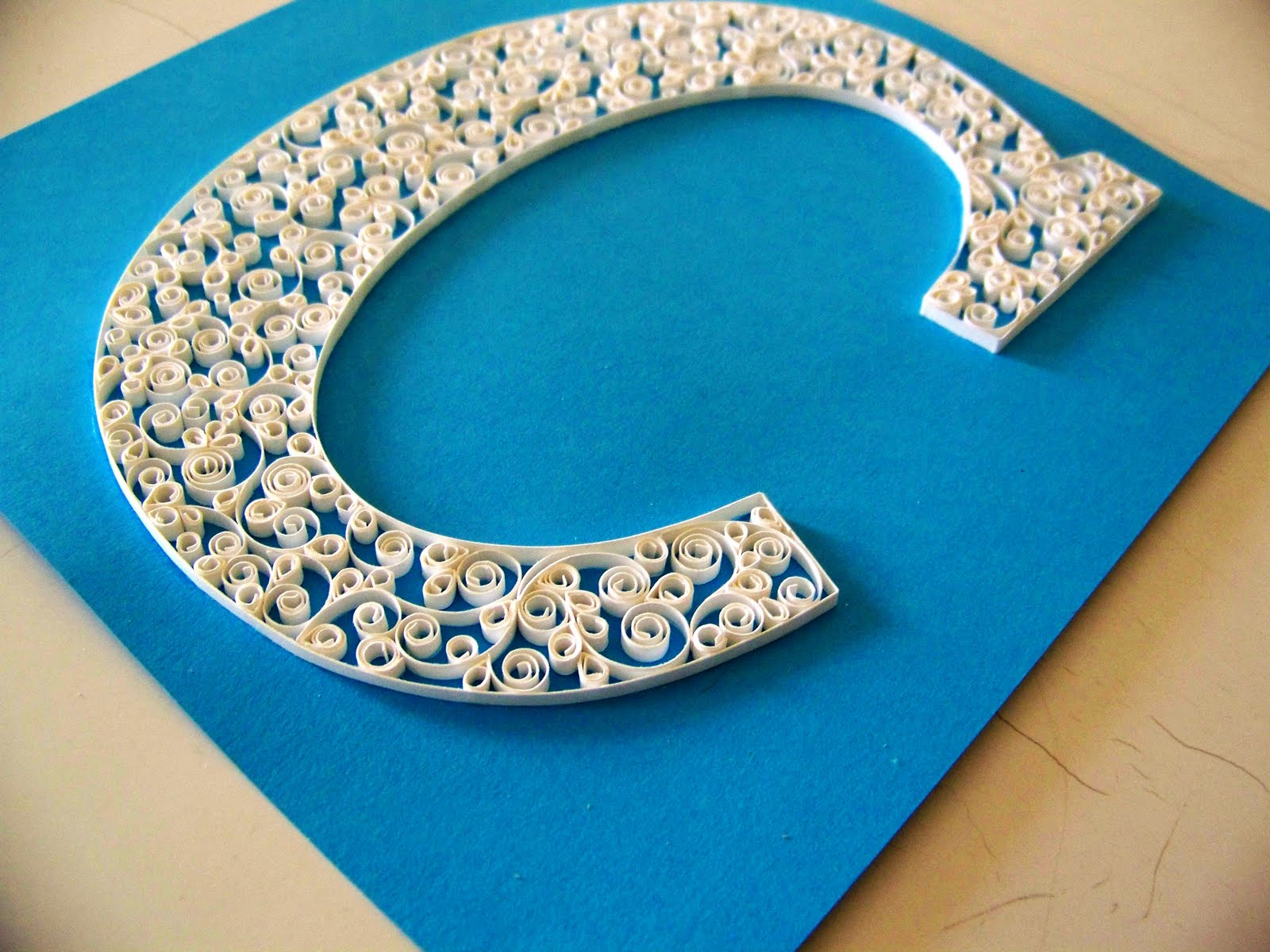 schmancy-ness-C Quilling Letter Template D on