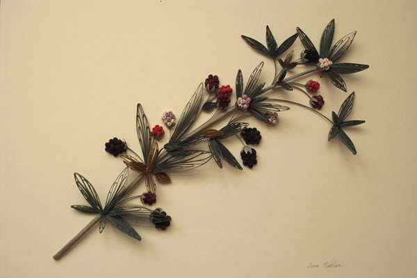 Quilled Blackberry Branch