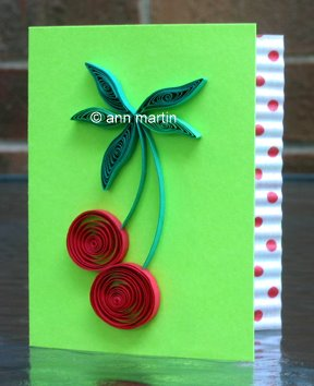 quilled cherries gift card