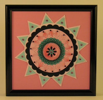 framed paper stitching