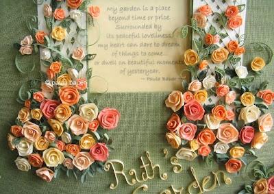 folded paper roses