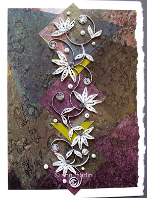 Upcycling Paper in Card Making - Quilled Mosaic Card