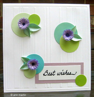 Fringed Flowers DIY: Quilled Best Wishes Card