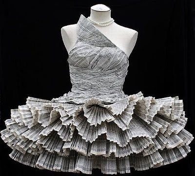 phone book paper dress