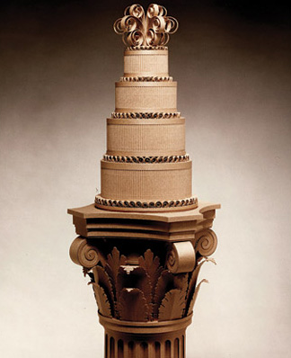 cardboard ornate wedding cake
