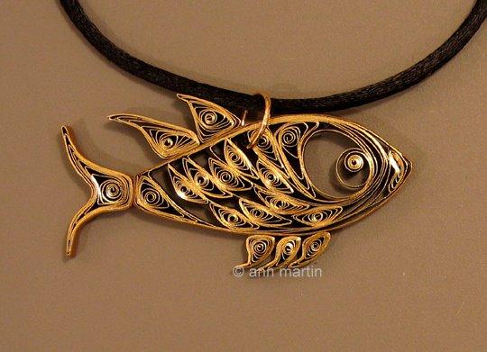 Quilled Fish Pendant