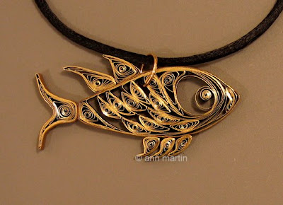 Quilled Fish Pendant