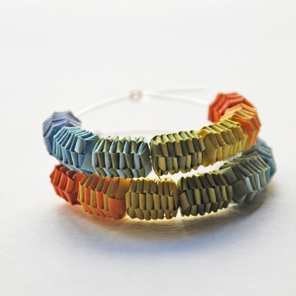Woven paper jewelry