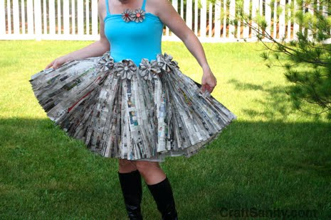 Headliner newspaper dress