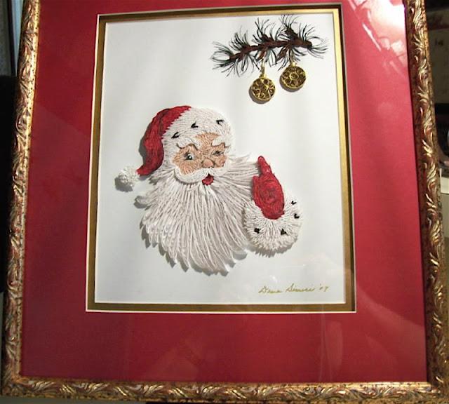 quilled Santa