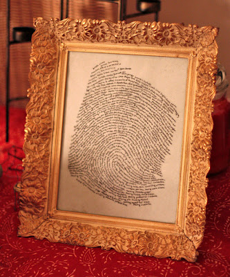 hand lettered fingerprint art