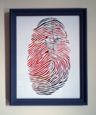 framed papercut fingerprint
