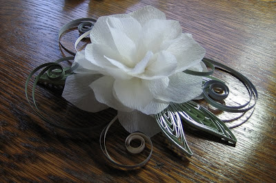 paper flower bridal hair accessory