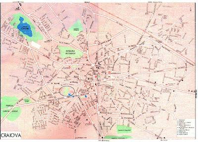 Orasul Craiova Harta Craiova