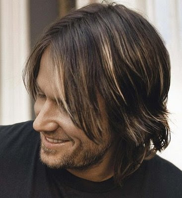natural hair color: Keith Urban - Men Long Hairstyles 2010