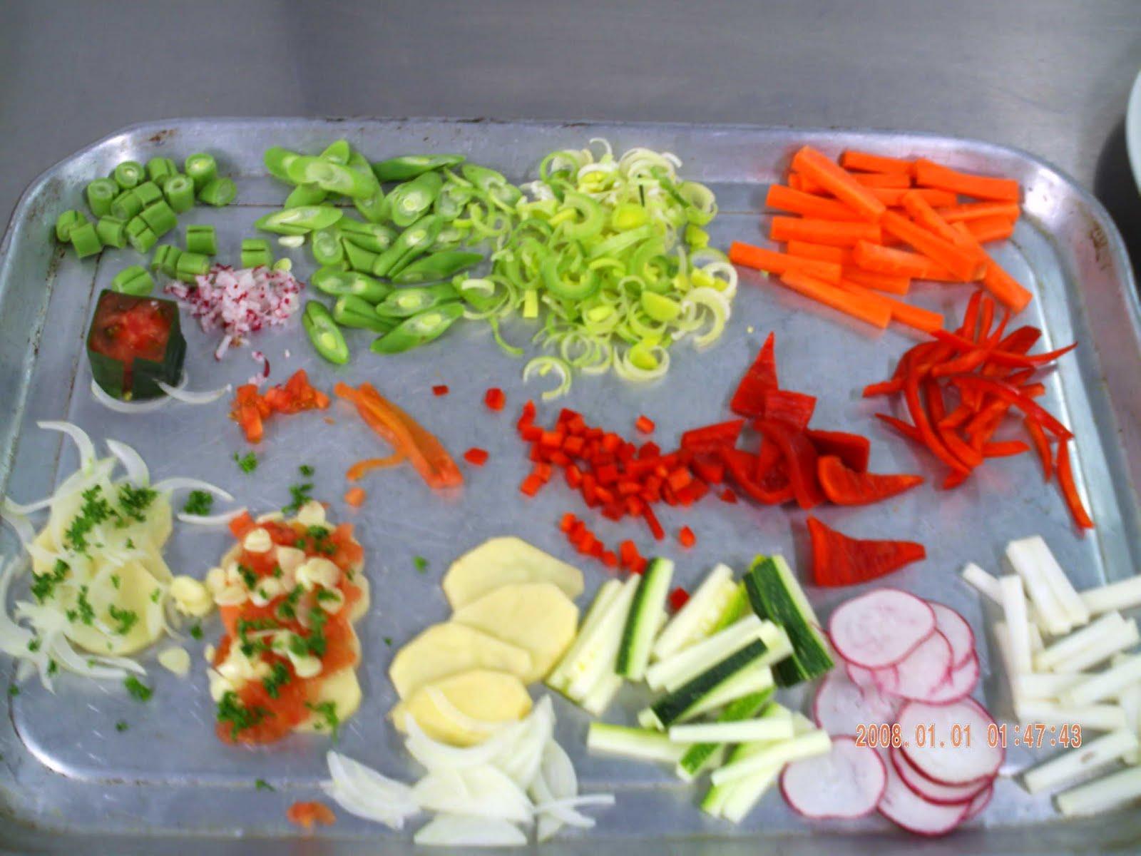 Tecnicos en Cocina Corte Frutas y Vegetales