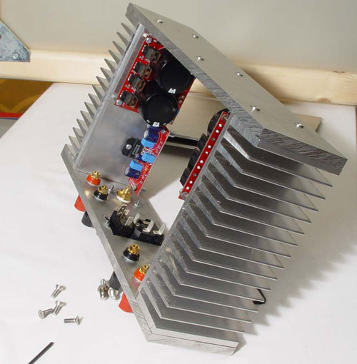 ba1404 lm3886 power amp with diy chassis. Black Bedroom Furniture Sets. Home Design Ideas