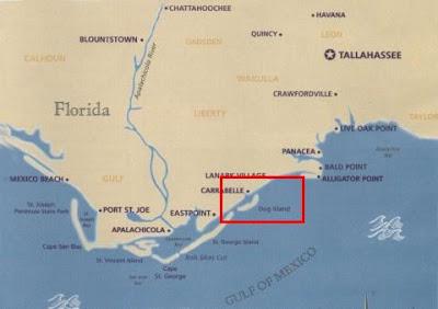 Dog Island Florida Map