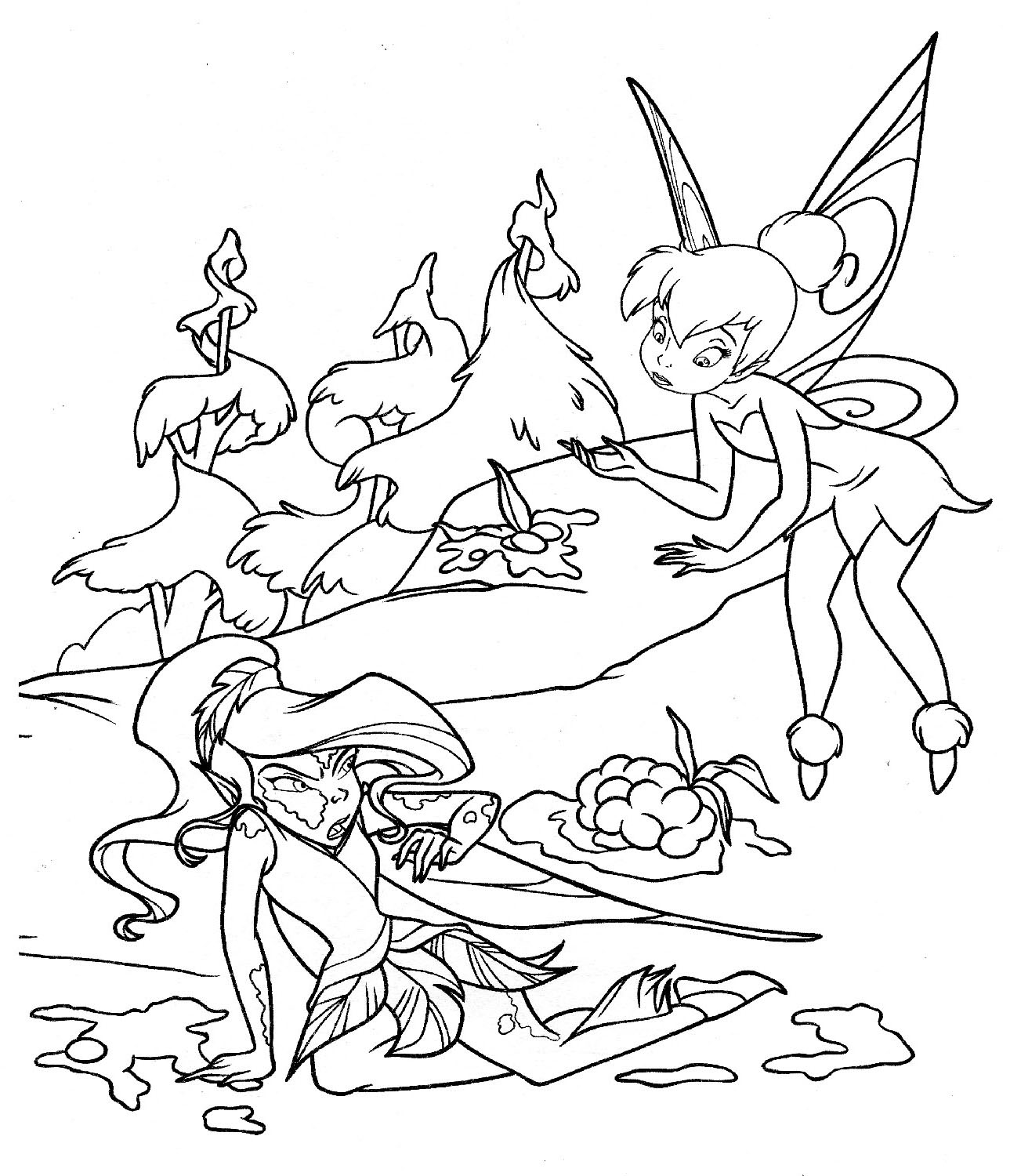 coloring pages tinker | Tinkerbell Coloring Pages - Helping Someone