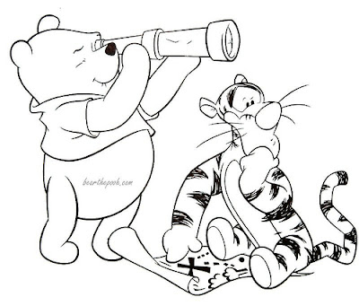 Disney Coloring Pages Winnie The Pooh Treasure Hunting