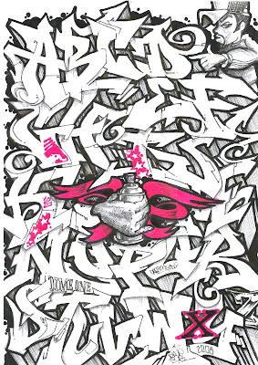 New Graffiti Master Graffiti Alphabet Black White With Arrow Design
