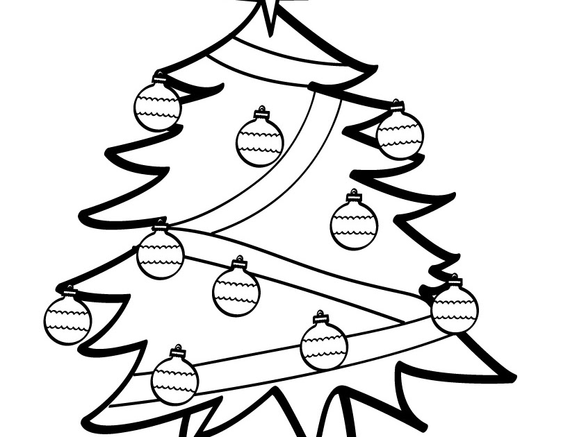 Decorated Christmas Tree Design Coloring Page >> Disney